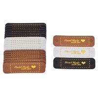 8/24pcs Handmade With Love Bronzieren Heart PU Leder Labels DIY Sewing Zubehör