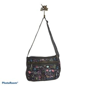 LeSportsac Crossbody Deluxe Everyday Shoulder Bag and Travel Pouch Forest Brown