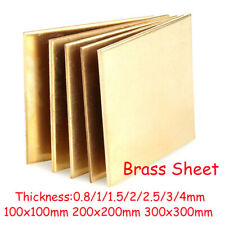 0.8/1/1.5/2/2.5/3/4mm Brass Sheet Plate Thin Metal Panel Cut Tool Model Making