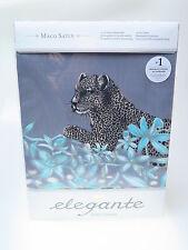 Elegante Comfort-Satin-Bettwäsche Wildcat 2107 135x200 Dessin Graphit Mako Satin