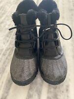 SOREL Sparkle. Black. Snow All-Weather Duck Boots. Waterproof. Women's Size 11