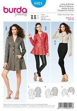 BURDA SEWING PATTERN LADIES TIMELESS CHIC CLASSIC JACKET & COAT SIZE 8 - 18 6921