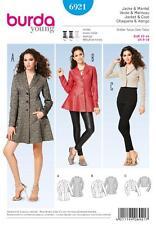 BURDA SEWING PATTERN LADIES TIMELESS CHIC CLASSIC JACKET & COAT SIZE 8 - 18 6921