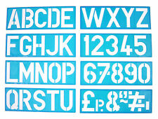 100mm ALPHABET STENCIL SIGNWRITING UPPER CASE LETTERS A TO Z & NUMBERS 0 to 9