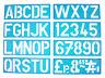 100mm Plantilla Alfabeto Signwriting Superior Funda Letras a a Z & Números 0 a 9