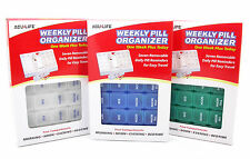 ACU-LIFE 7 DAY WEEKLY PILL BOX ORGANISER WITH INDIVIDUAL REMOVABLE COMPARTMENTS