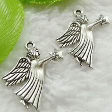 Free Ship 240 pieces tibet silver angel charms 25x22mm #679