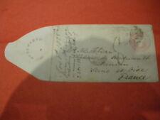 1855 1d PINK POSTAGE  ENVELOPE