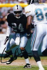 1- LARRY BROWN OAKLAND RAIDERS 8X10 PRINT AUTO PHOTO