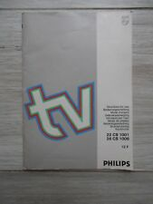 PHILIPS TV 22 CS 1001 / 26 CS 1006 DIRECTIONS FOR USE ISTRUZIONI USO BEDIENUNGSA
