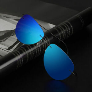 Polarized Sunglasses Rimless Light Weight Flexible Metal Outdoor Driving UV G344
