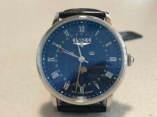 New Elysee Men's Watch Wristwatch Leather Strap/Black monumentum Moon 77019L