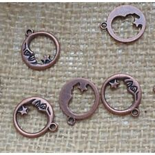 Red Copper ~ 20 Man in the Moon Charms