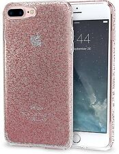 """Apple iPhone 7 Plus 5.5"""" Glitter Case Ultra Slim Fit Clear Sparkle Cover Pink"""