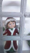 Clayre Eef Fenstergucker Fensterdeko Mädel  Winter 15*13*29cm Weihnachten Flügel