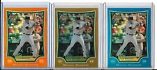 2009 Bowman Draft Michael Saunders RC Refractors Blue #/99 Gold #/50 Orange #/25