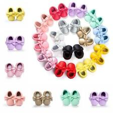 Cute Baby Girl Soft Soled PU Leather Shoes Infant Toddler Moccasin 0-18Month UK