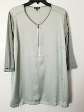 Vince Camuto Women's Tunic Size 2X Gray Mix Media w/front zipper Pre-owned