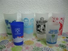 Lot x6 Ancien VERRE GOBELET RUGBY MONTPELLIER CLERMONT GRENOBLE MUNSTER Top 14