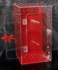Red & Clear Acrylic Reptile Enclosure