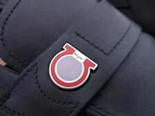 $640 Salvatore Ferragamo Mens Black TRIBUNE Dress Shoes Gancini Bit Loafers 8 E