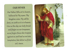 Prayer to Our Father ~ Lords Prayer  (Lot of 2) Laminated catholic prayer cards