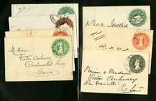 Egypt Early Used Group of 7 Postal Stationery Items