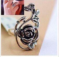 Charming Vintage Fashion Retro Style Antiqued Silver Flower Ring #7