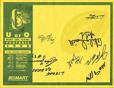 1998 Oregon DUCKS Football TEAM SIGNED Bi-Mart PAPER Akili Smith Schedule 7 Sigs