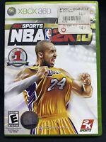 NBA 2K10 Microsoft Xbox 360 Kobe Bryant Cover #24 LAKERS Game & Case
