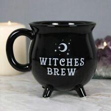 Witches Brew Cauldron Gothic Black Mug 10cm Tea Coffee Cup Gift Boxed