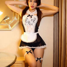 Sexy/Sissy Women Maid Lingerie Costume Cosplay Outfits Fancy Dress G-string UK