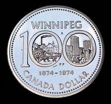 1974 CANADA DOLLAR - .500 SILVER - ELIZABETH II - WINNIPEG CENTENNIAL - SPECIMEN