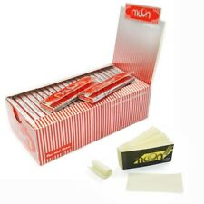 1 Box 50 Booklets Moon Red Cigarette Rolling Papers 70*36mm 2500 Leaves and Tips