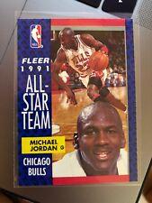 Michael Jordan 1991-1992 Fleer Team Leader lot of 6 cards Chicago Bulls nba unc