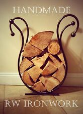 Wrought Iron Log Holder, log ring, log basket. wood burner. fire place
