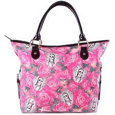 Iron Fist Large Pink Beautiful Sinner Tote Handbag (Goth,Skull,Punk)