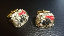 Mother Of Pearl Gentlemen'S Cufflinks! Vintage 1960's Spanish Matador & Bull