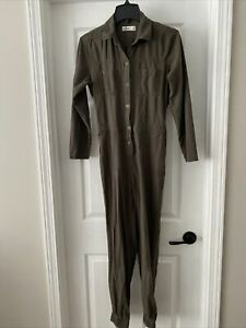 Women's Hollister Jumpsuit Olive Army Green Size Small Long-sleeve