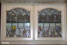 Traditional Leaded glass cabinet door inserts SGDK5656