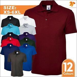 Unisex Men's Active Pique Polo Shirt XS - 6XL Work Wear Casual Leisure Plain Tee