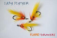 3x brand new FLAMETHROWERS size 10 salmon doubles ladyflytyer