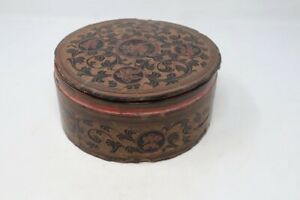 Vintage Old Wooden Collectible Rare Handcrafted Burmese Lacquer Betel Box