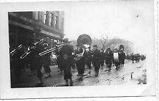 Photo Parade Float Queen King Sitting on Seat Ford Car Dealers Marching Men #786