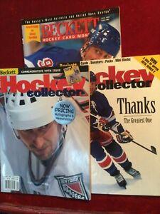 3 Wayne Gretzky Featured Beckett Hockey Magazines