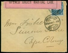 LOURENCO MARQUES : Choice, small 1900 cover franked with 100R value to Cape Town