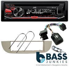Fiat 500C 2007 On JVC Bluetooth USB CD MP3 AUX iPhone & SWC Car Stereo Ivory Kit