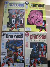DEADSHOT : COMPLETE 4 ISSUE DC 1988 DEBUT SERIES by OSTRANDER, YALE etc. 1,2,3,4