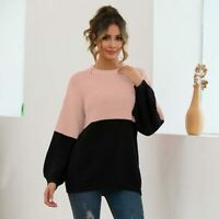 Casual Womens Pullover Knitted Knitwear Sweater Knit Shirt Loose Tops Jumper