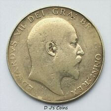 More details for 1904 king edward vll silver .925 half crown coin, good grade with nice detail